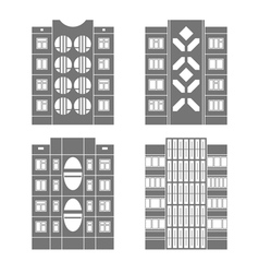 Panel houses set3 vector image vector image