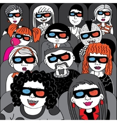 People in the audience cinema vector image vector image