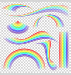 rainbow set different shape collection vector image