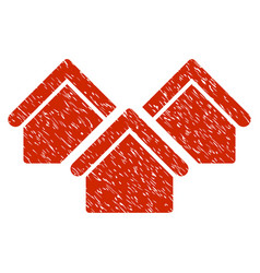 Real estate grunge icon vector