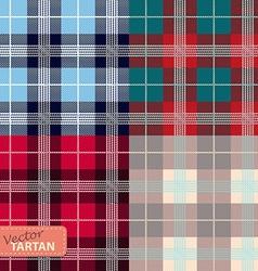 Set of seamless tartan pattern vector image vector image