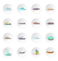 Ship and boat icons set vector