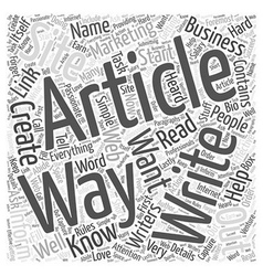Simple Ways to Start Creating Marketing Article vector image vector image