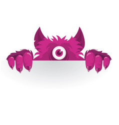 Stickers peeking monster vector