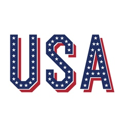 usa word vector image