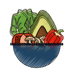 Vegetable delicious salad vector