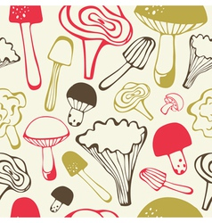 Vintage food hand drawn patterns vector image vector image