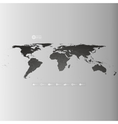 World map in perspective infographic template for vector image vector image