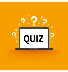 Quiz test survey exam concept vector