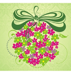 Spring background with flowers vector