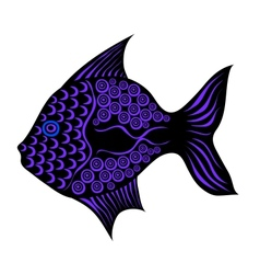 Contrast stylized fish vector