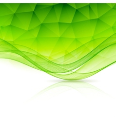 Abstract color template background with wave and vector
