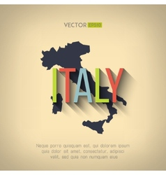 Italy map in flat design italian border vector