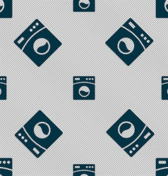 Washing machine icon sign seamless pattern with vector
