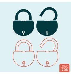 Padlock icon isolated vector