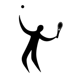 Champion athlete playing tennis vector