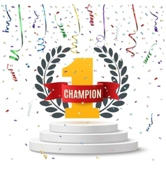 Champion number one background vector