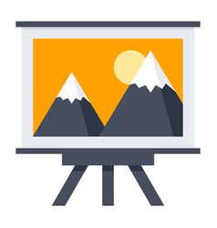 Arts or whiteboard icon vector