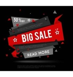 Black Sale Banner vector image