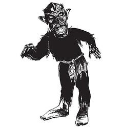 Black zombie vector