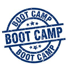 Boot camp blue round grunge stamp vector