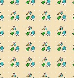 Christmas pattern 2 vector image vector image