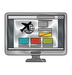 Computer icon imgae vector