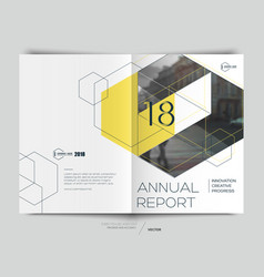 Design annual report vector