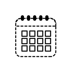 Dotted shape calendar data to organizer important vector