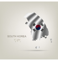 flag of South Korea as a country vector image vector image