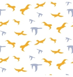 Flock of birds seamless pattern vector image