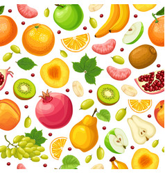 fresh natural food seamless pattern vector image vector image