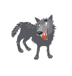 Gray wolf cartoon toothy wolf grey vector