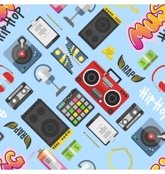 Hip hop pattern background vector image