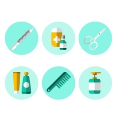 Hygiene Icons Flat Set vector image