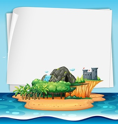 Island and sign vector image vector image