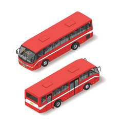 Isometric of red bus vector