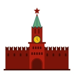 Kremlin icon flat style vector