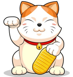 Lucky Cat Makeni Neko vector image