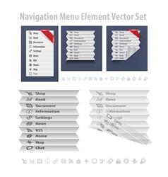 Nav Menu vector image vector image