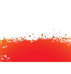 Orange splat band vector image vector image