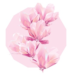 polygon flowers vector image