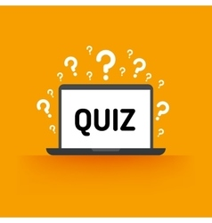 Quiz test survey exam concept vector