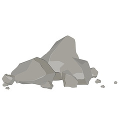 Rock and stones vector