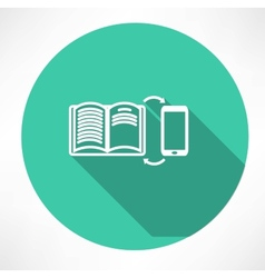 smartphone and book exchange icon vector image vector image