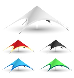 Star gazebo tent vector