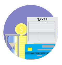 Tax payment time vector