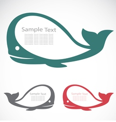 The design of the whale vector image vector image