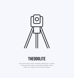 theodolite on tripod geological survey vector image