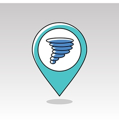 Tornado Whirlwind pin map icon Weather vector image vector image